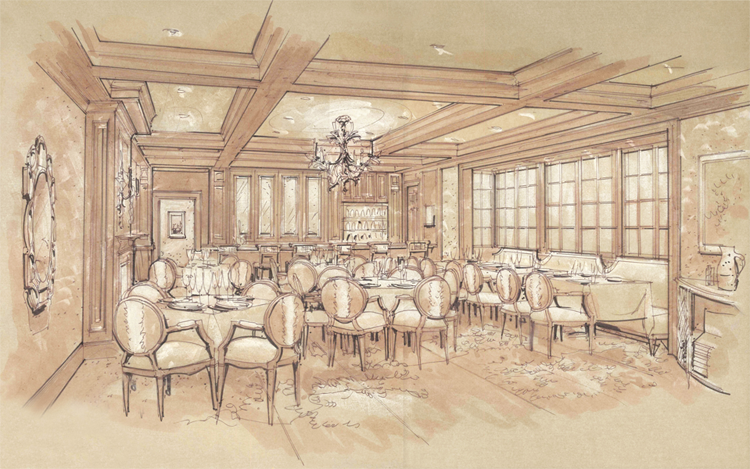 New Formal Dining Room conceptual rendering