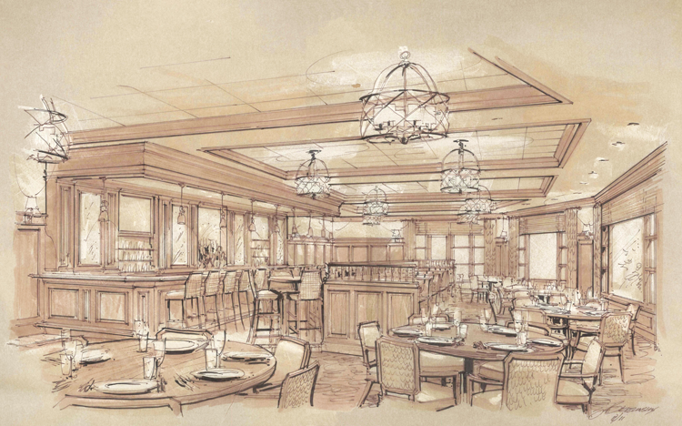 Rendering of New Bistro Dining Venue