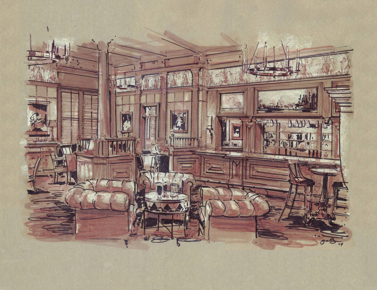 Old Cafe Rendering
