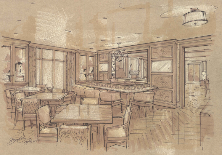 Rendering of new bar.